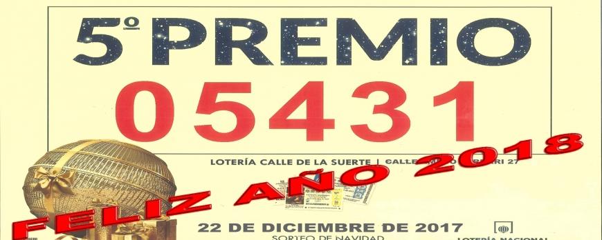 5º PREMIO SORTEO DE NAVIDAD 2017
